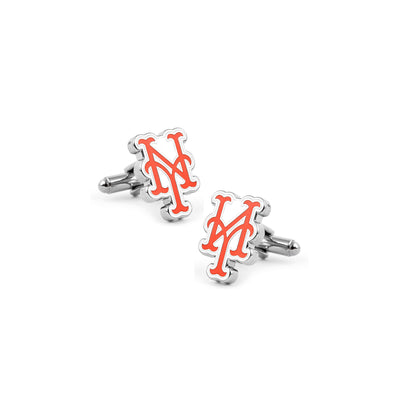 new york mets baseball logo cufflinks