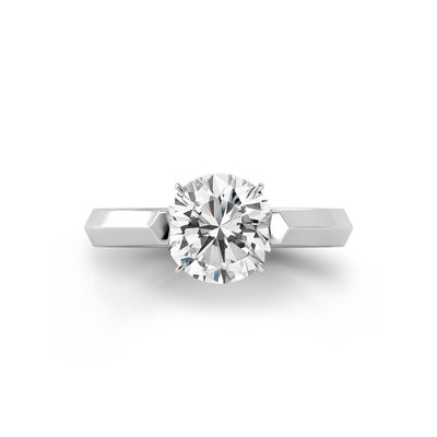 Danhov Classico Knife Edge Diamond Engagement Ring