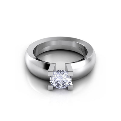 Danhov Voltaggio Single Shank 4 Prong Diamond Engagement Ring
