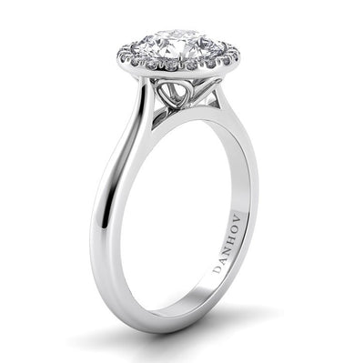 Danhov Classico Single Shank Diamond Basket Engagement Ring