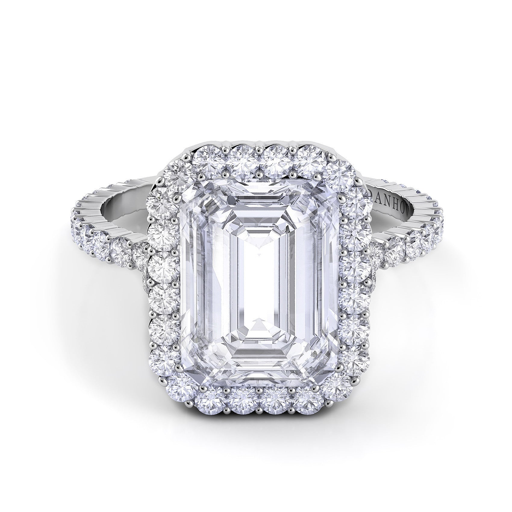 danhov carezza emerald cut diamond engagement ring desires by