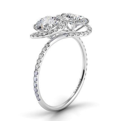 Danhov Abbraccio Infinity Single Shank Diamond Engagement Ring
