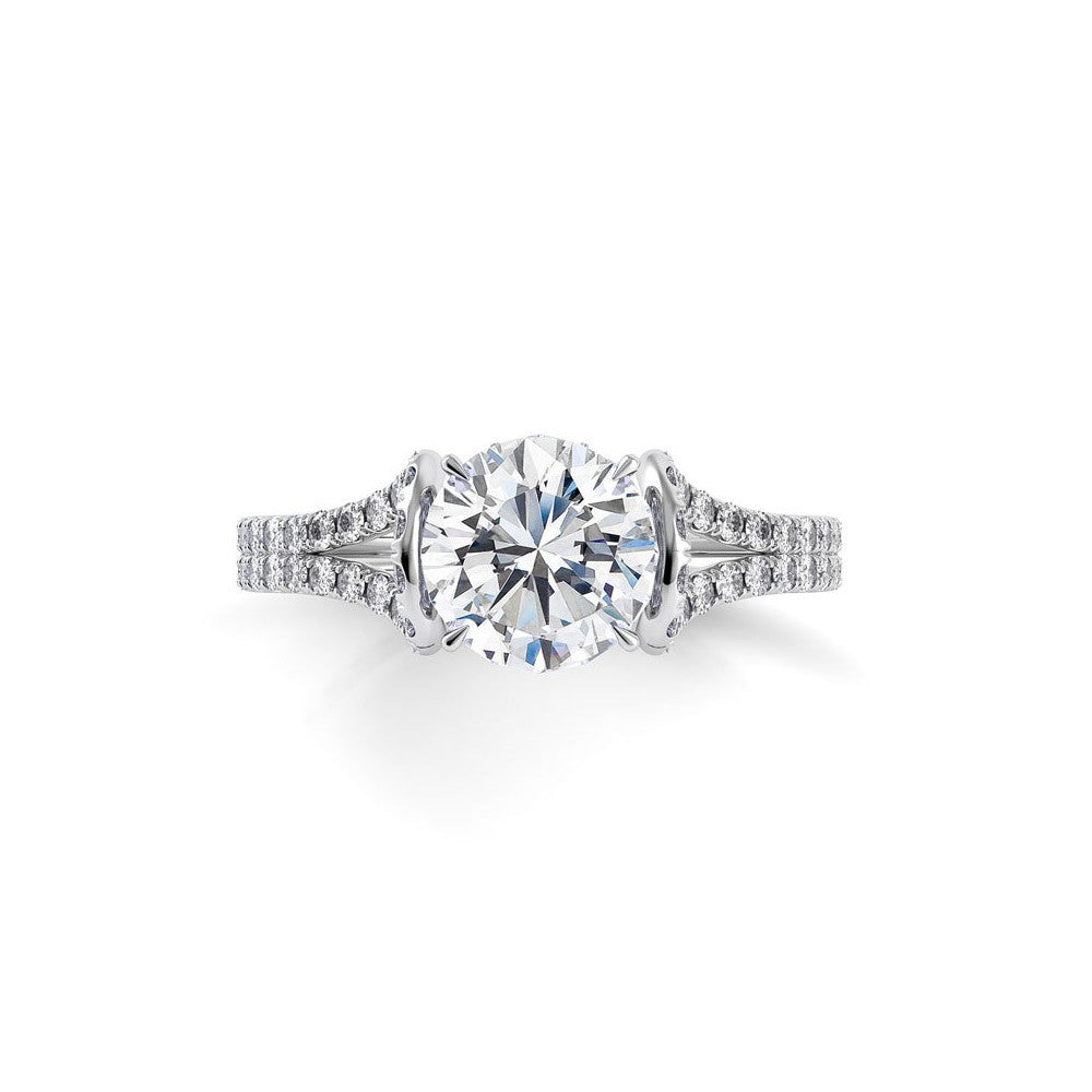 Danhov Solo Filo Double Shank Diamond Engagement Ring in Custom Setting
