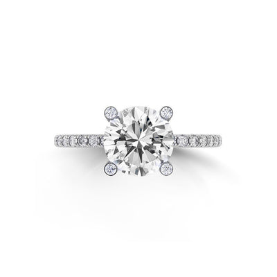 Danhov Classico Diamond Embedded Shank Engagement Ring