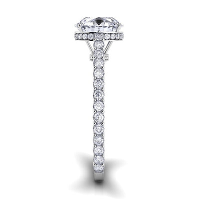 Danhov Carezza Diamond Engagement Ring with Diamond Accents and Engraving