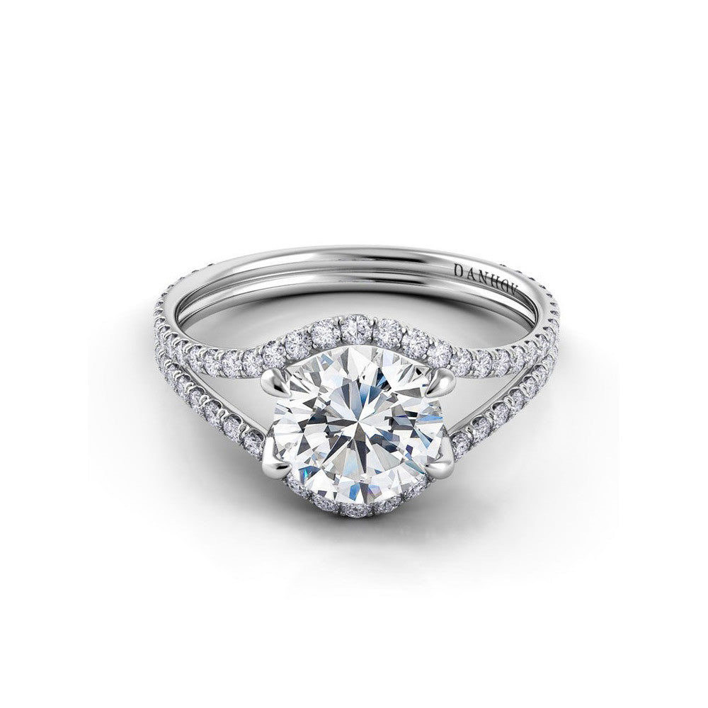 split shank engagement ring with wedding band danhov per split shank engagement ring 7619