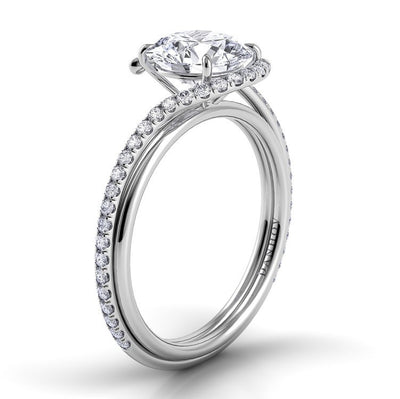 Danhov Abbraccio diamond swirl engagement ring | Full View