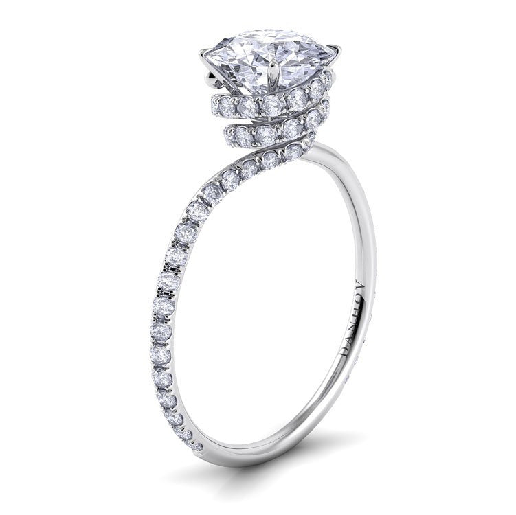 Danhov Abbraccio Double Swirl Diamond Engagement Ring Desires by