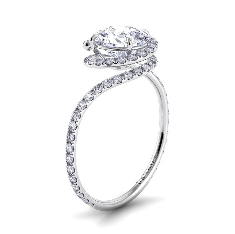 Danhov Abbraccio Swirling Diamond Engagement Ring Desires by Mikolay
