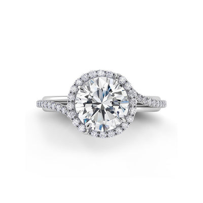 Danhov Abbraccio Swirl Halo Diamond Engagement Ring