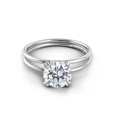 Danhov Solo Filo Plain Double Shank Diamond Engagement Ring