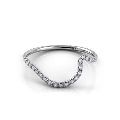 Danhov Half Moon Diamond Eternity Shadow Band