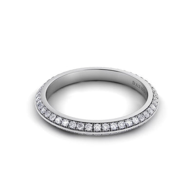 Danhov Knife Edge Diamond Eternity Band