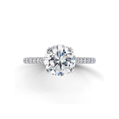 Danhov Classico Engagement Ring with Diamond Accents on the Shank
