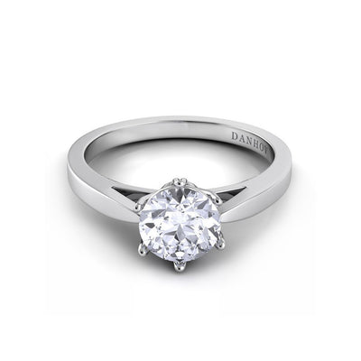 Danhov Classico Six Prong Engagement Ring