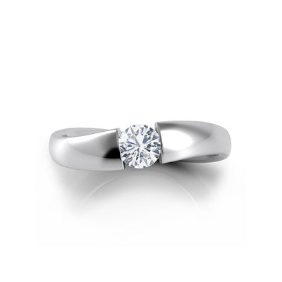 Danhov Voltaggio Wave Shank Diamond Engagement Ring