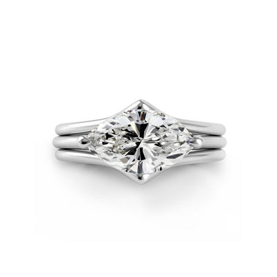 Danhov Solo Filo Triple Shank Engagement Ring