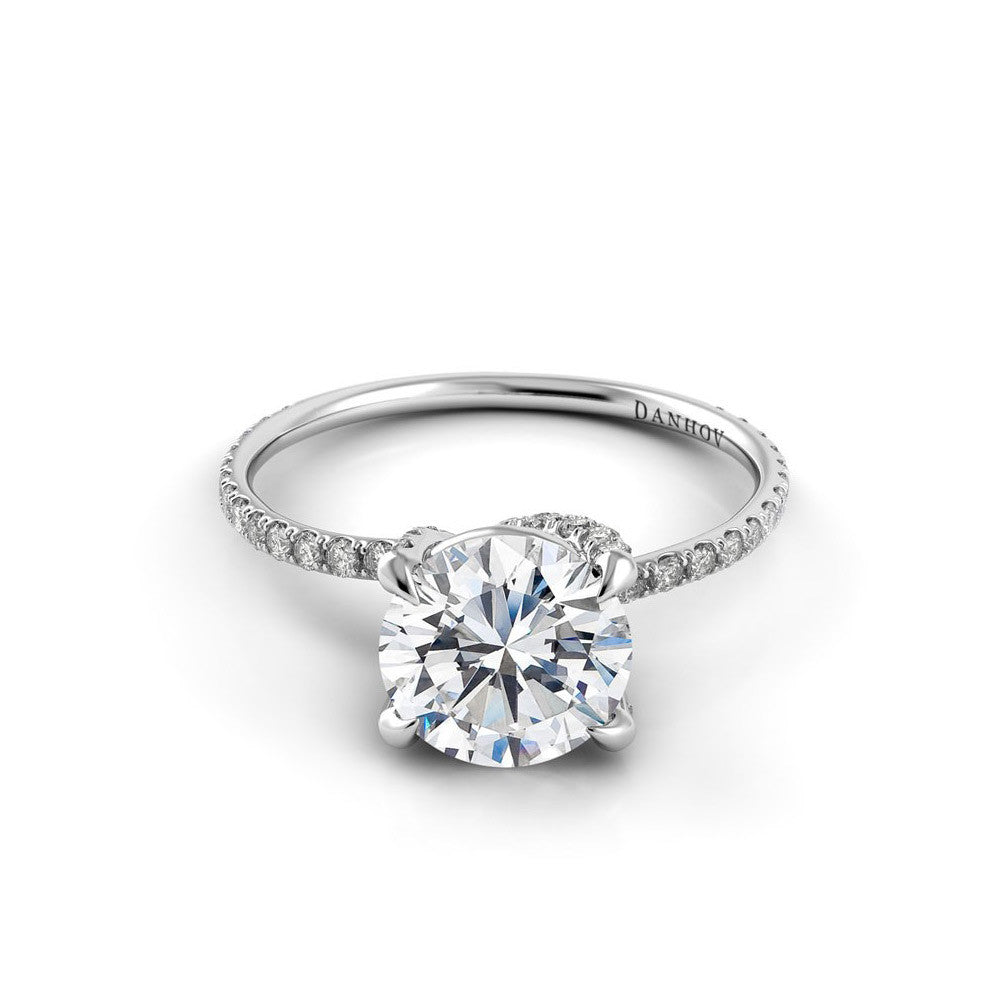Embedded Diamond Engagement Ring