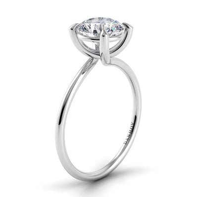 Danhov Eleganza Twisted Prong Engagement Ring