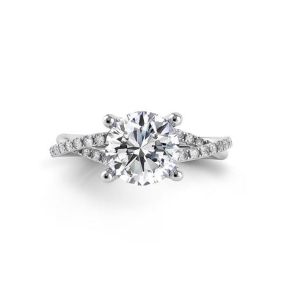 Danhov Voltaggio Braided Diamond Engagement Ring