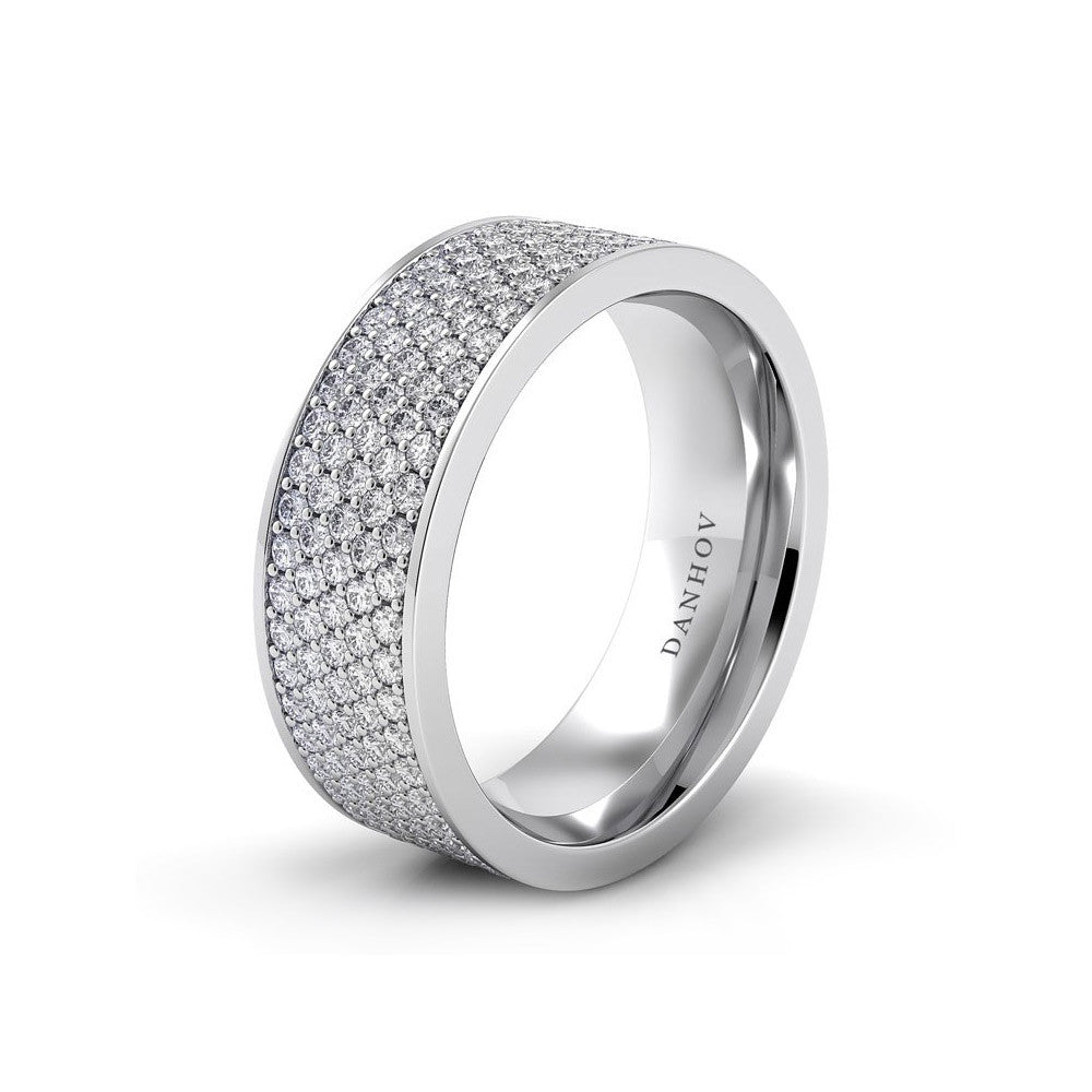 pave product a pav engagement bands wide ring with carat round cathedral cut band center shown wedding diamond rings