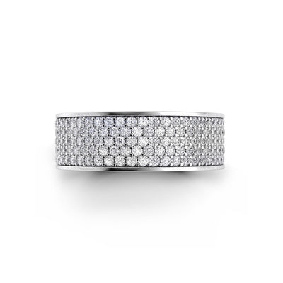 Danhov Wide Pave Diamond Band