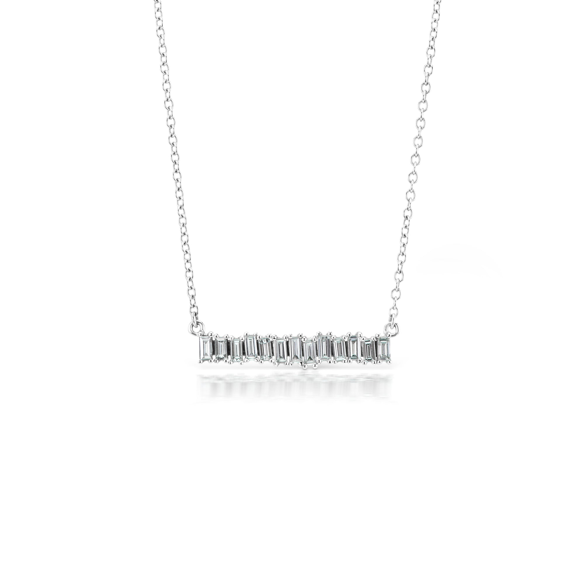 necklace mikolay baguette desires by products white diamond gold bar