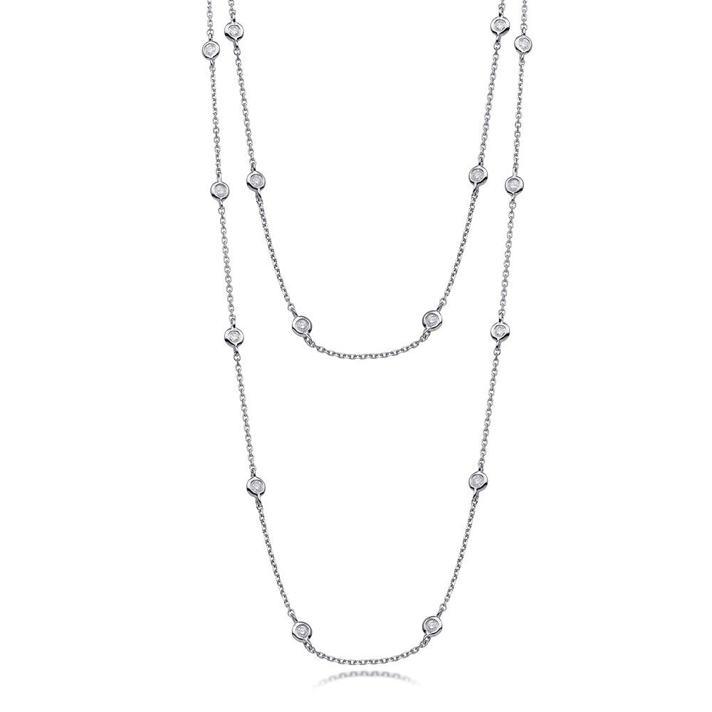 "Diamond by the Yard Necklace 36"" 1.25ctw"