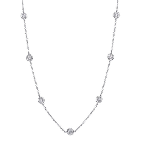 Diamond by the Yard Necklace 2.94CTW