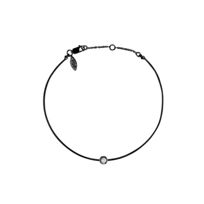 Pop Diamond Bracelet with Black Cord