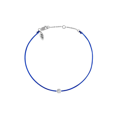 Pop Diamond Bracelet with Cobalt Cord
