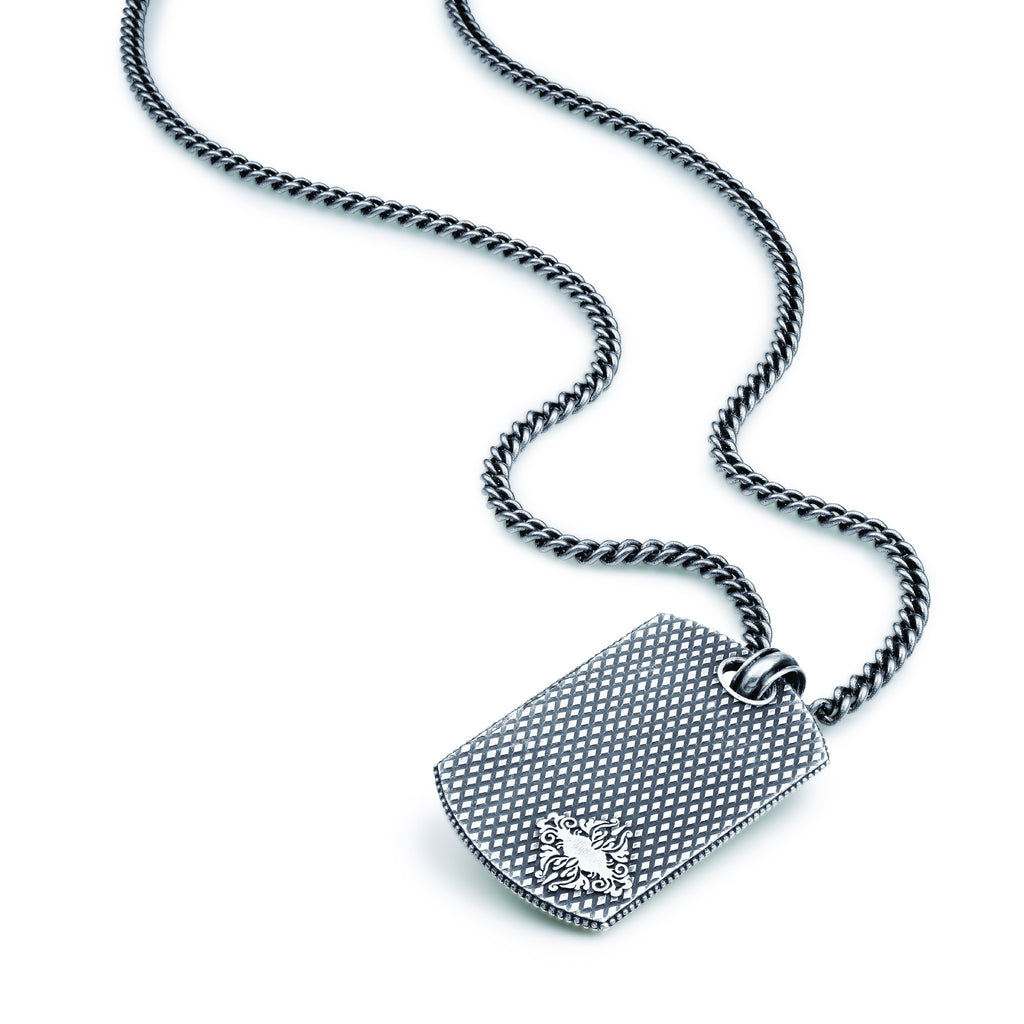 Mens Dog Tag Necklace by Jewelry Designer Scott Mikolay