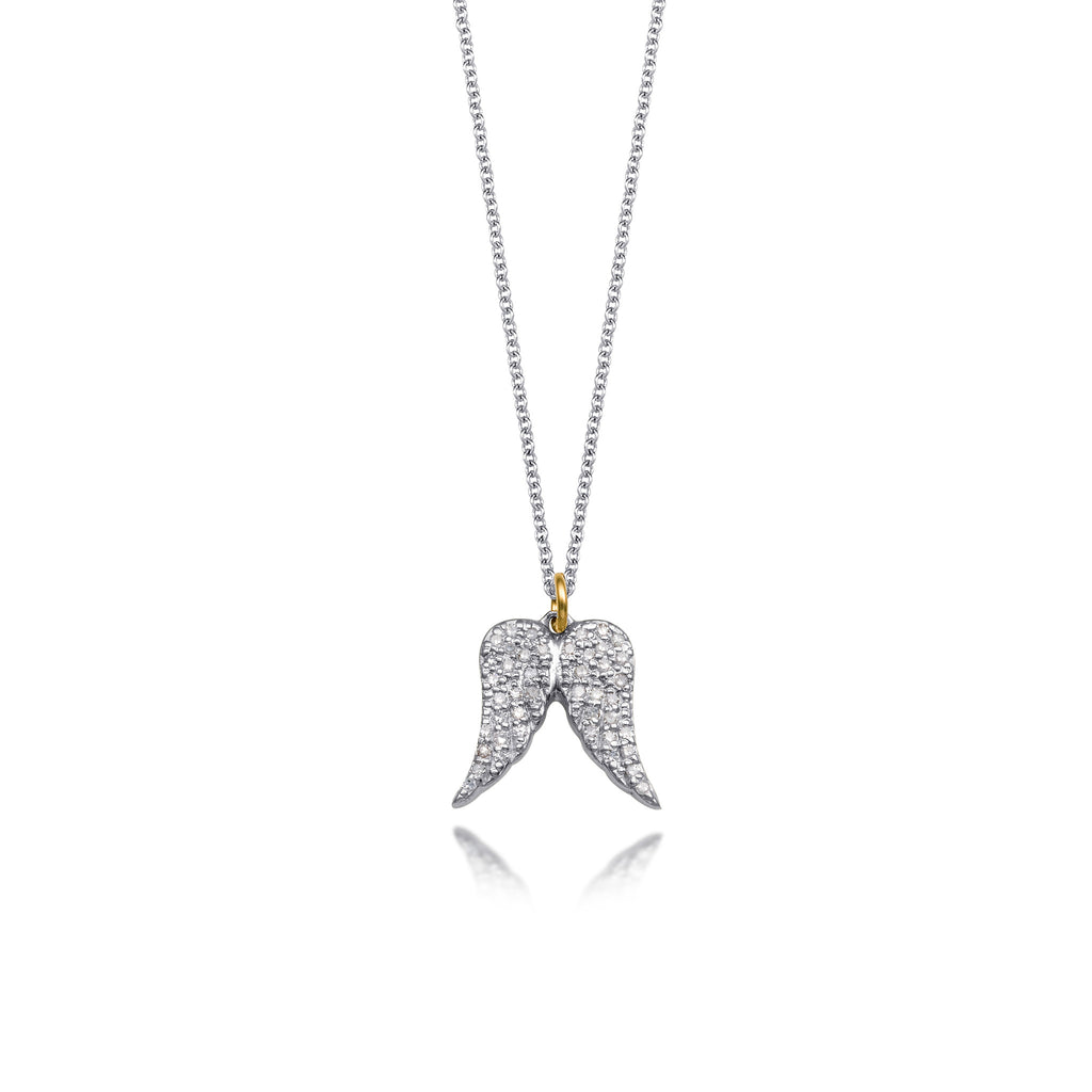 Diamond Double Angel Wing Necklace