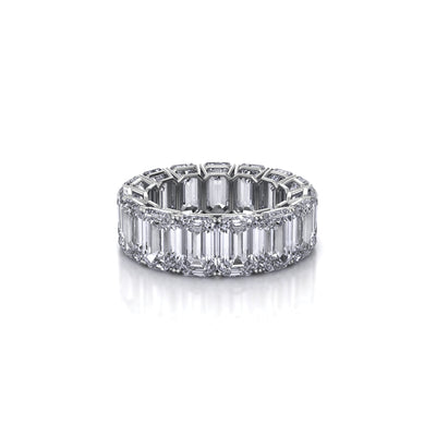 emerald bands eternity and product platinum band jb star diamond
