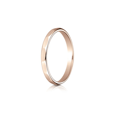 Faceted Plain Gold 2mm Band