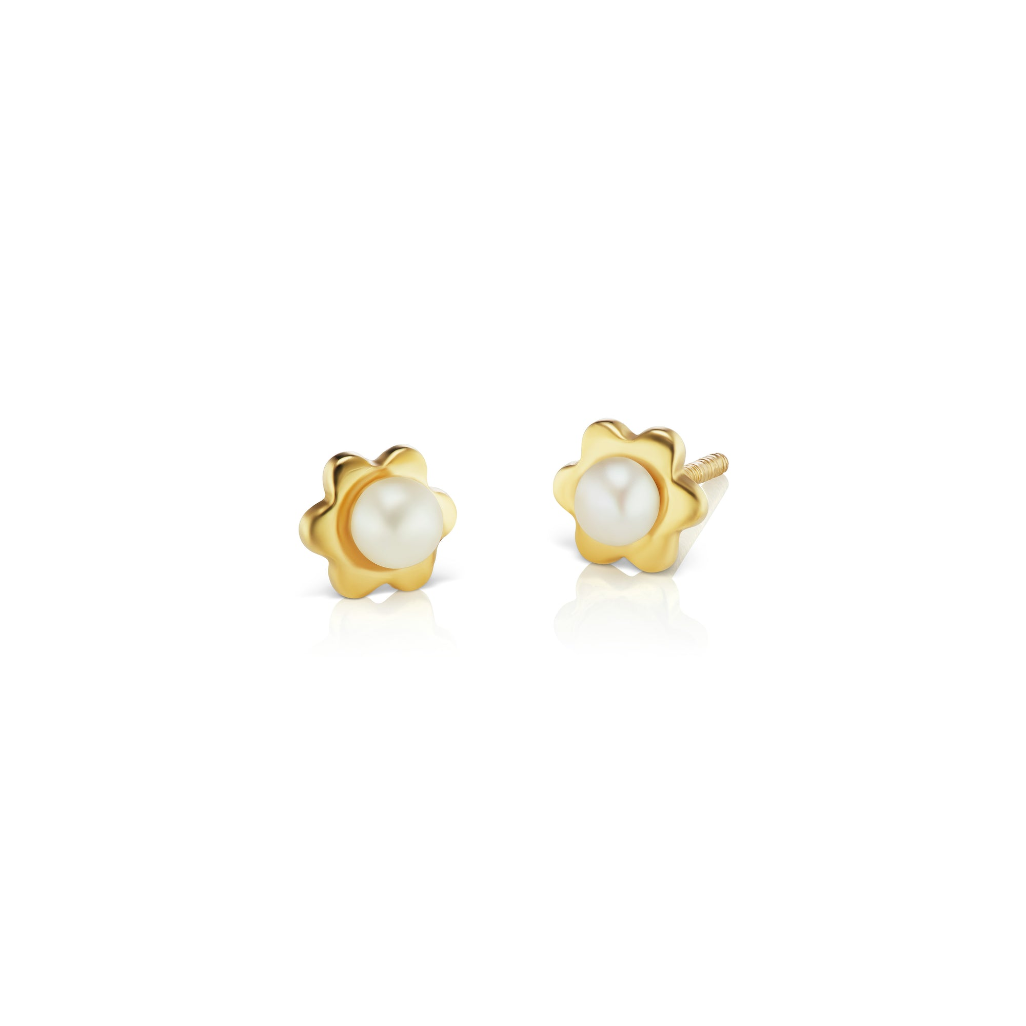 jewellery small cz rose earrings earring circle baby stud georgini gold