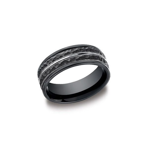 Black Cobalt Hammered Mens Wedding Band Desires By Mikolay