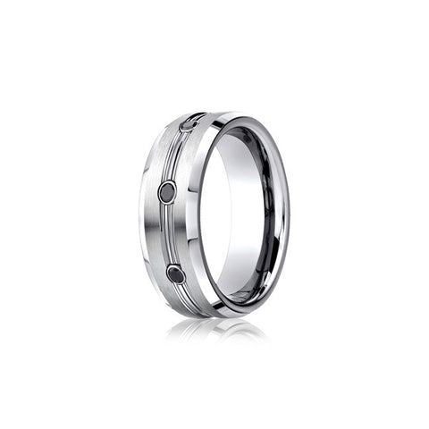 Black Diamond Cobalt Mens Wedding Band