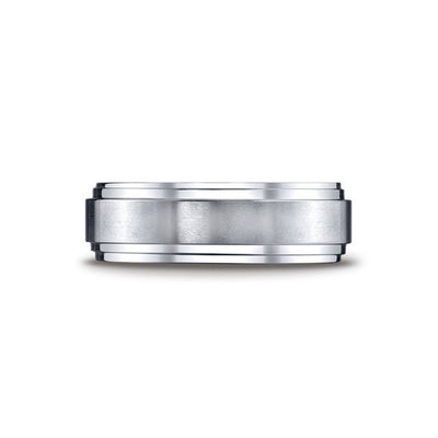 Double Edge Cobalt Mens Wedding Band