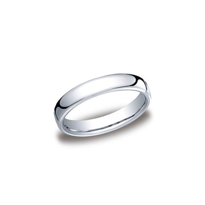 Flat Cobalt 4.5mm Mens Wedding Band