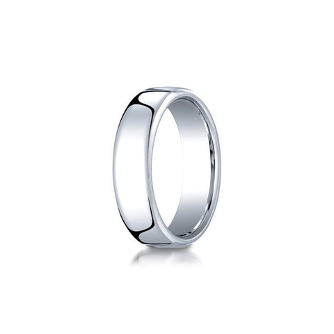 Flat Cobalt 6.5mm Mens Wedding Band