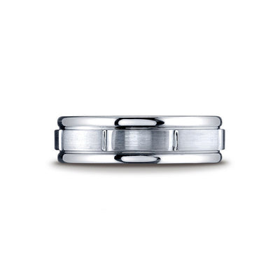 Grooved Classic Cobalt Mens Wedding Band