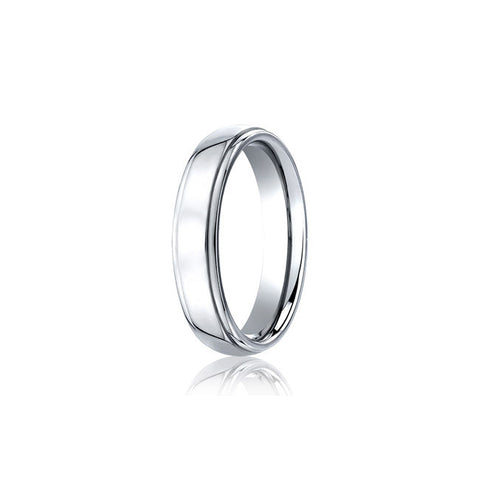 Traditional 5mm Cobalt Mens Wedding Band