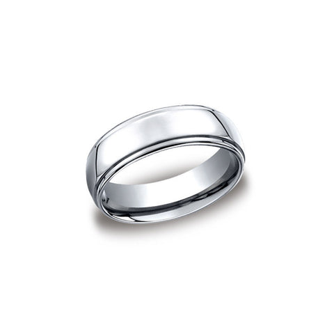 Traditional 7mm Cobalt Mens Wedding Band