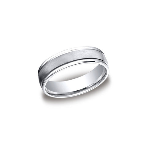 Satin Finish Cobalt Mens Wedding Band