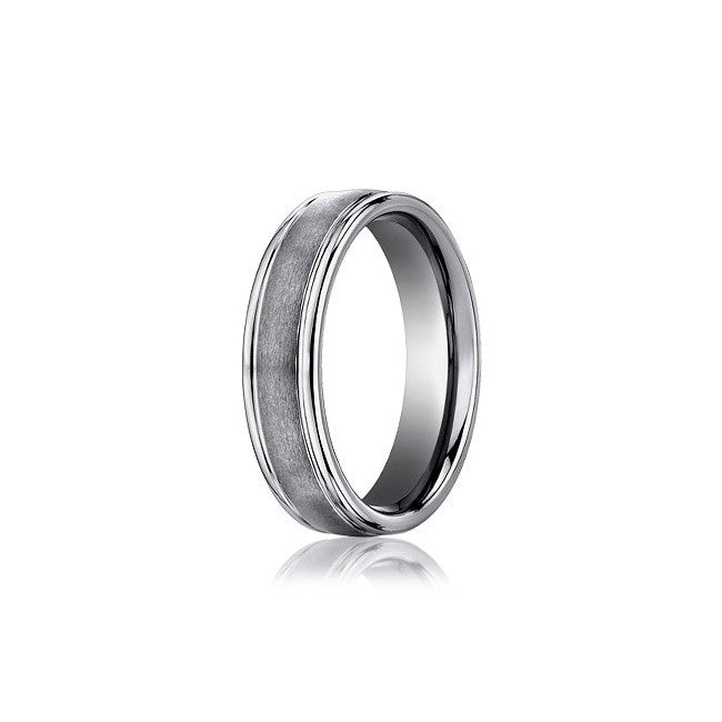 Matte and Polished Tungsten Men's Wedding Band