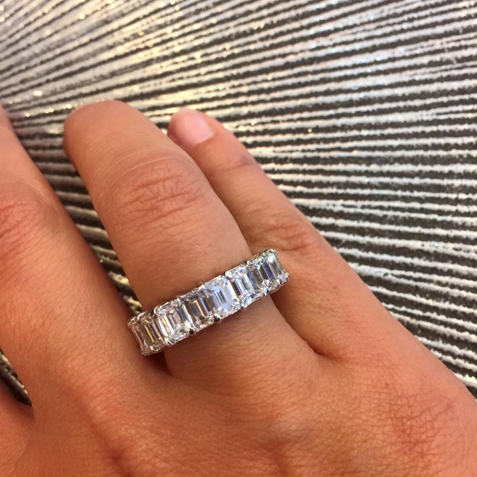 ring rings carat band eternity side bands diamond