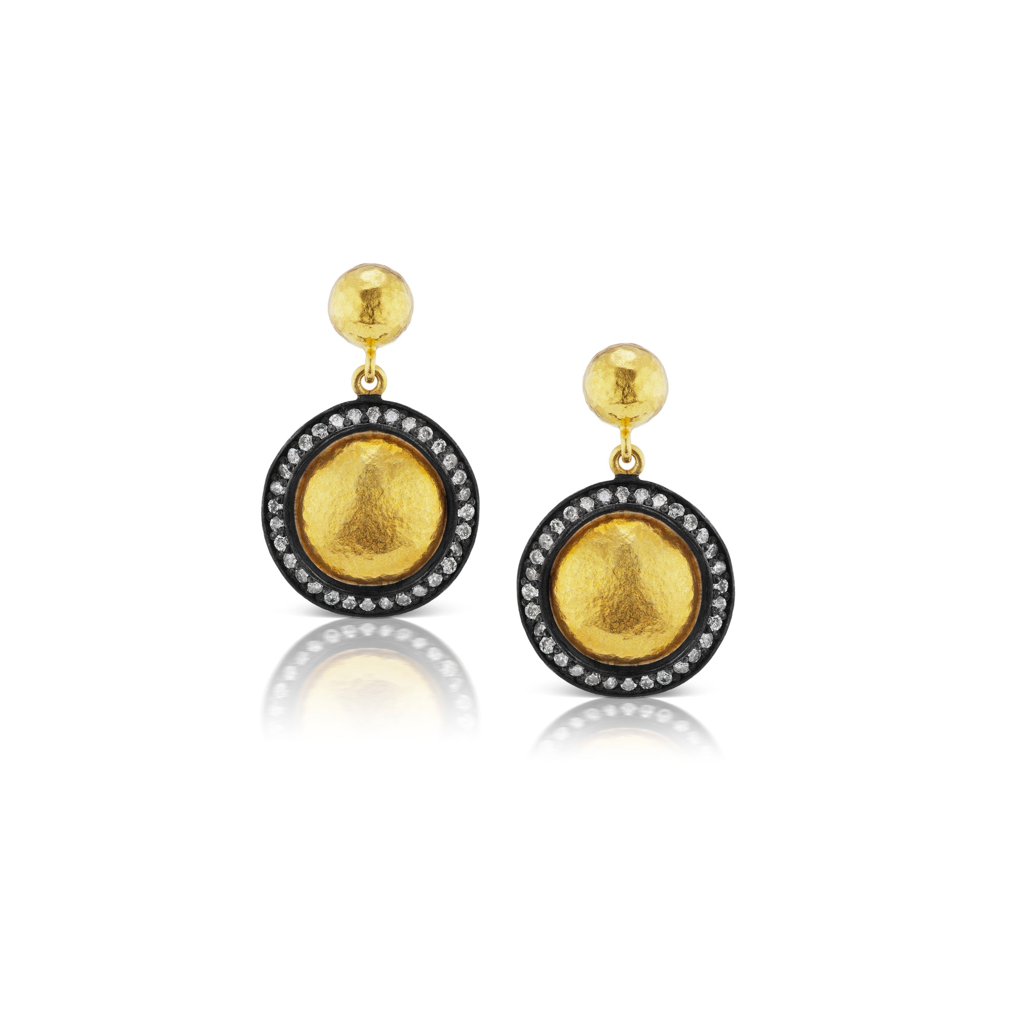 lyst jewelry gold metallic in gallery gurhan hoop diamond earrings