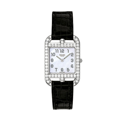 Hermes Cape Cod PM Diamond Gem-Set Watch
