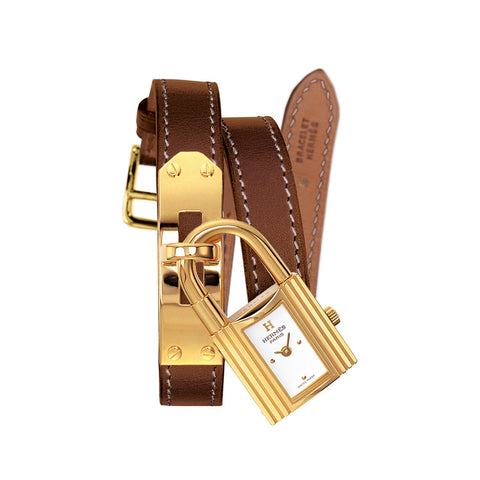 Hermes Kelly Padlock Gold-Plated Steel Watch